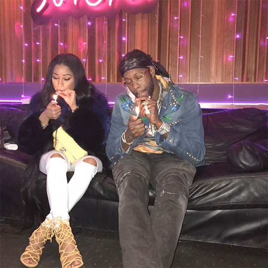2 Chainz Hits Up The Studio With Nicki Minaj, Announces A New Collaboration Between Them