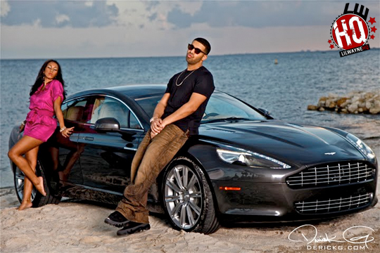 On Set Of Aston Martin Music Video Shoot