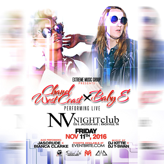 Baby E & Chanel West Coast To Perform Live At NV Nightclub In Knoxville, Tennessee