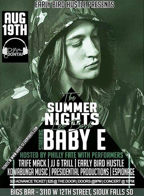 Baby E To Perform Live At Bigs Sports Bar & Billiards In Sioux Falls South Dakota