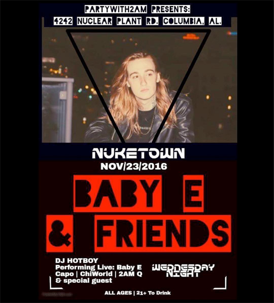 Baby E To Perform Live At NukeTown In Alabama