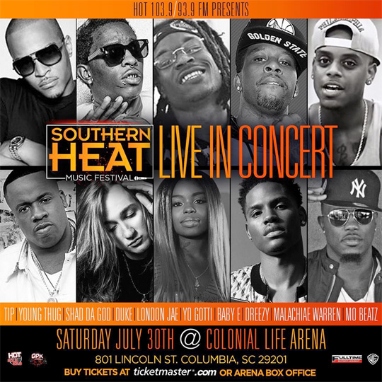 Baby E To Perform Live At The Southern Heat Music Festival In Columbia