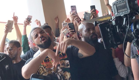 Behind The Scenes Of Drake Gods Plan Video At Miami High School