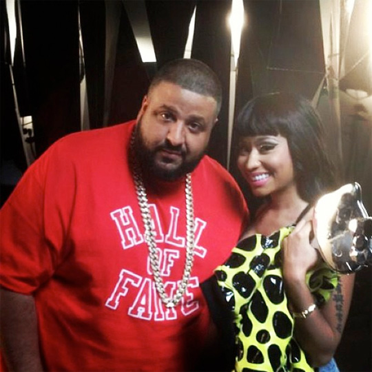 Two rappers DJ Khaled and Nicole Tuck