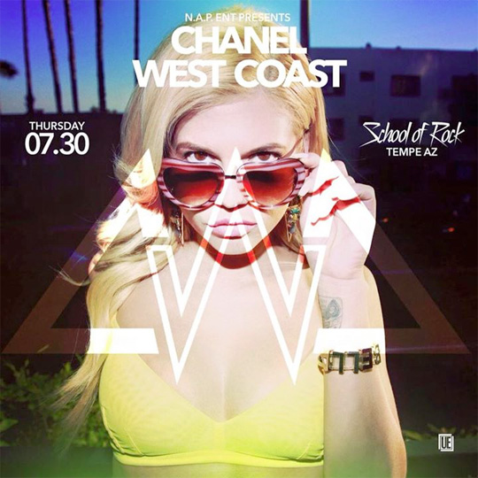 Chanel West Coast To Perform Live At The School Of Rock Mill Ave In Arizona