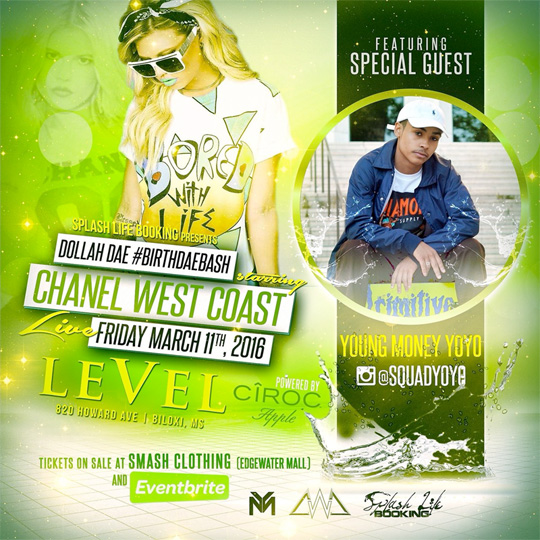 Chanel West Coast & YoYo To Host An Event At Level Nightclub In Biloxi Mississippi