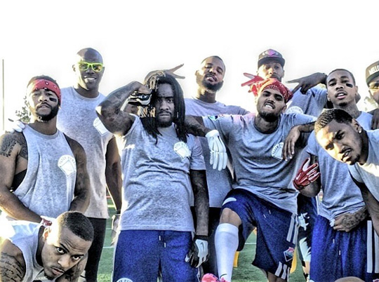 Watch A Recap Of Chris Brown & Quincy Comb Celebrity Flag Football Charity Game Starring Tyga