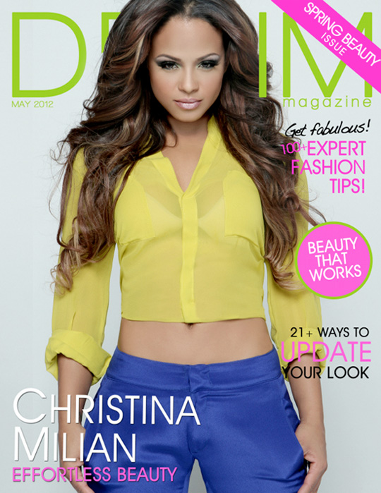 Christina Milian Covers Denim Magazine May Issue