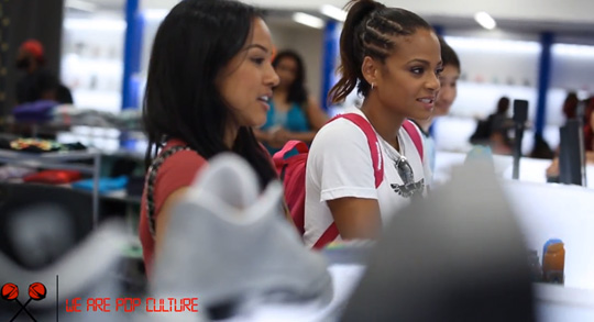 Christina Milian & Karrueche Go Sneaker Shopping At Shiekh Shoes In Los Angeles