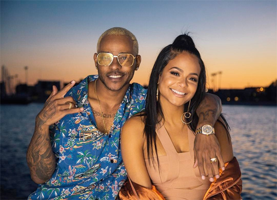 Christina Milian On Set Of Eric Bellinger Make You Mine Video Shoot