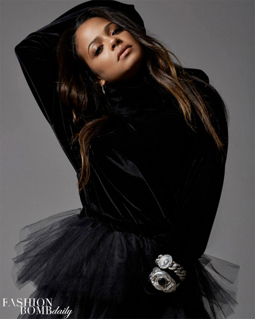 Christina Milian Takes Part In A Photo Shoot With Chris Shintani For Fashion Bomb Daily