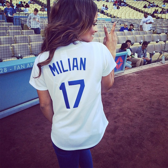 Christina Milian Sings The US National Anthem At The Los Angeles Dodgers Baseball Game