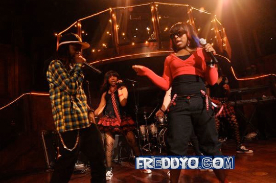 Pictures Of Lil Chuckee Performing With The OMG Girlz