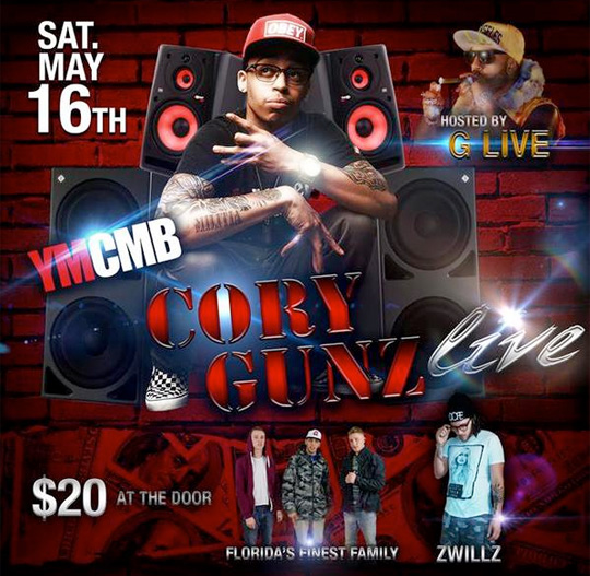 Cory Gunz To Perform Live At BackBooth In Orlando Florida