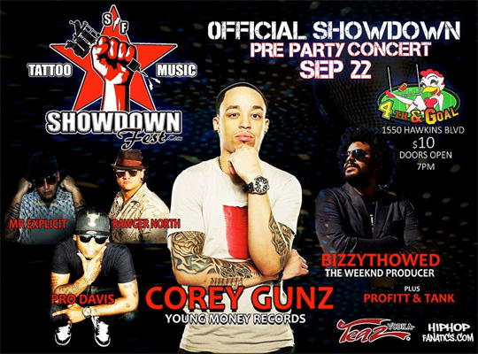 Cory Gunz To Headline The Showdown Fest Pre Party In El Paso Texas
