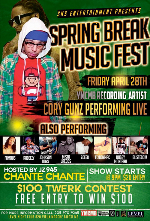 Cory Gunz To Headline The Spring Break Music Fest In Biloxi Mississippi