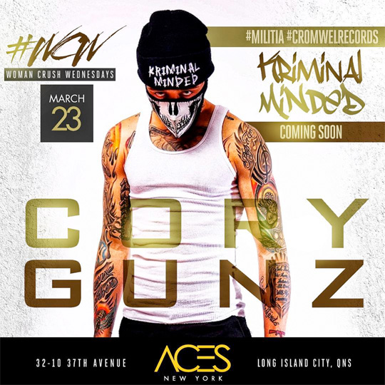 Cory Gunz To Host & Perform Live At Aces Gentlemens Club In New York