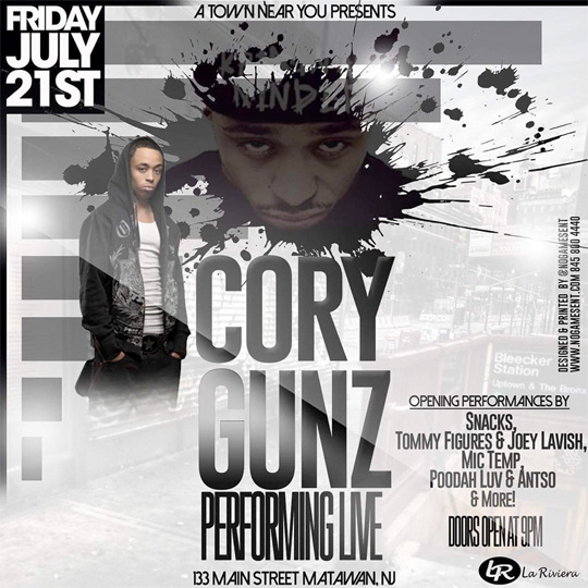 Cory Gunz To Perform Live At La Riviera Lounge In New Jersey