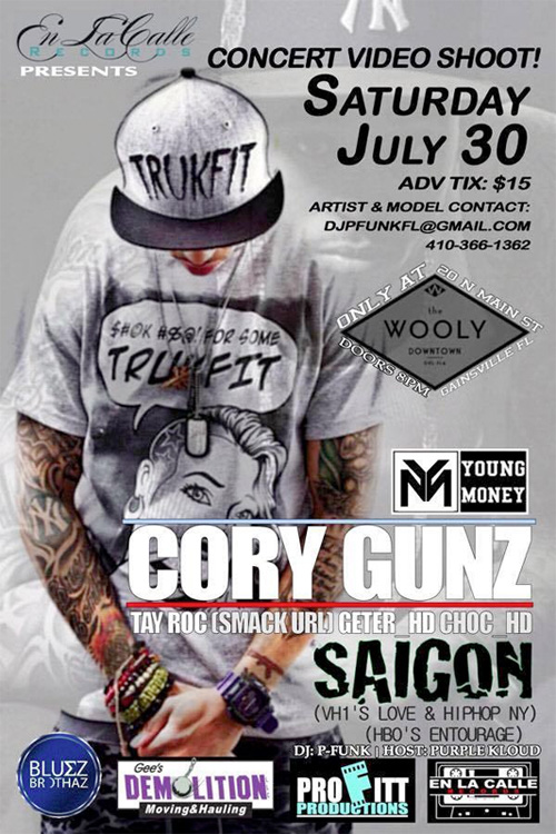 Cory Gunz & Saigon To Perform Live & Shoot A Video At The Wooly In Gainesville Florida