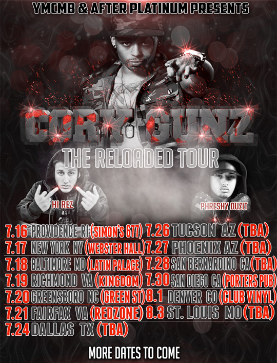 Cory Gunz Announces Dates For His The Reloaded Tour