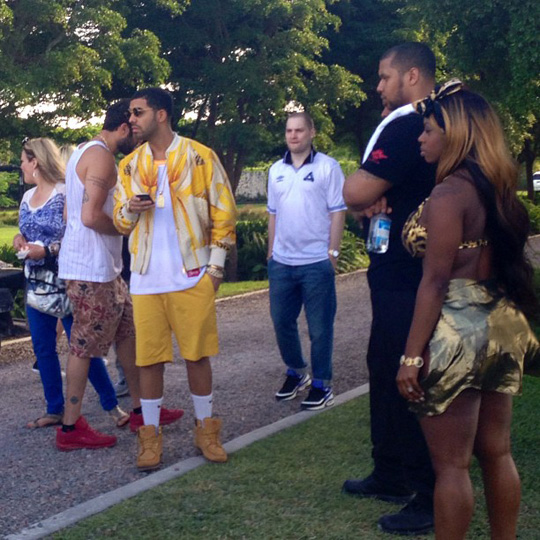 On Set Of DJ Khaled, Drake, Rick Ross &#038; Lil Wayne No New Friends Video Shoot
