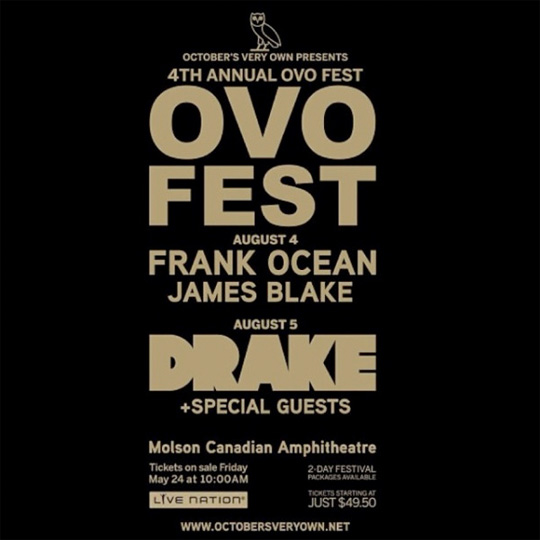 Drake Announces Lineup For 2013 OVO Fest