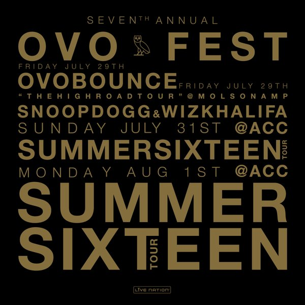 Drake Announces 7th Annual OVO Fest In Toronto, Reveals Lineup