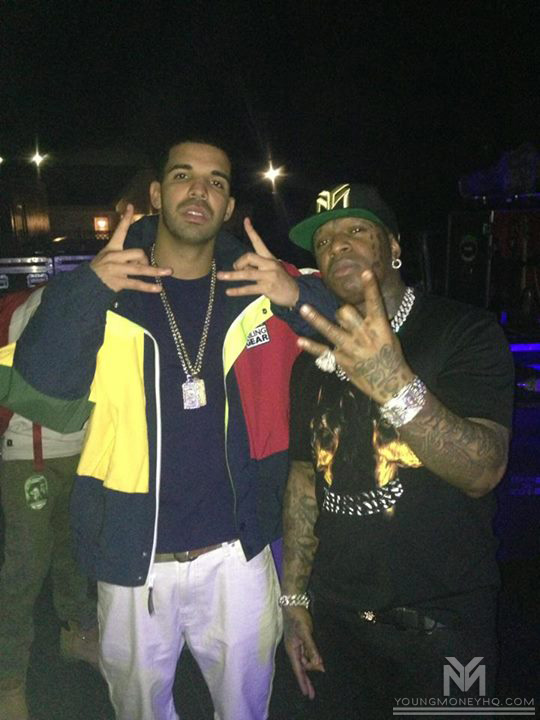 Drake Chills With Birdman, Mack Maine & W3 The Future In New York