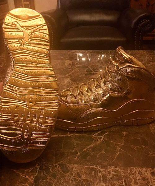 Drake Commissions 24 Karat Solid Gold OVO Sneakers