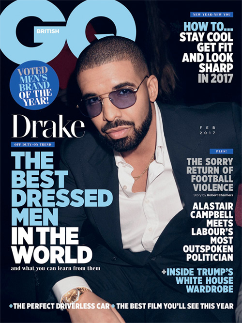 Drake Covers British GQ Magazine Best Dressed Men In The World Issue