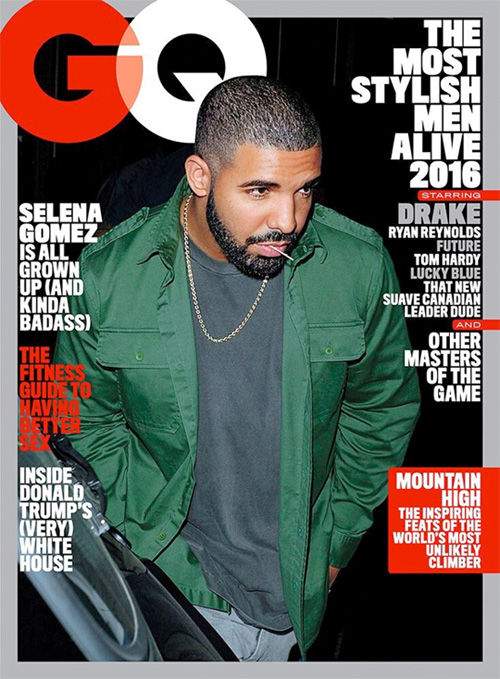 Drake Covers GQ Magazine The Most Stylish Men Alive 2016 Issue