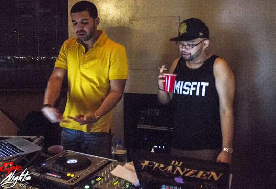 Drake DJing At A Private Party In Las Vegas With DJ Franzen