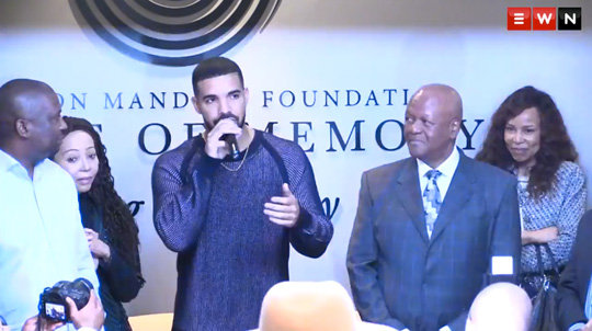 Drake Gives An Encouraging Speech To The Youth At The Nelson Mandela Foundation In Johannesburg