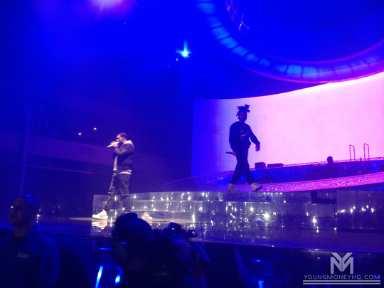 Drake & The Weeknd Perform In Frankfurt Germany On Their European Tour