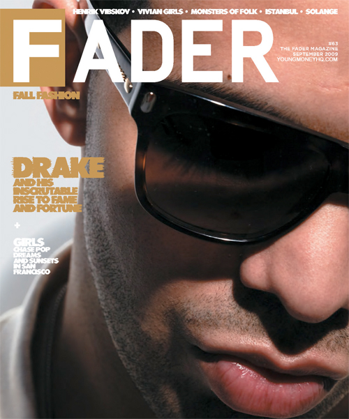 Drake Makes Front Cover On Fader Magazine
