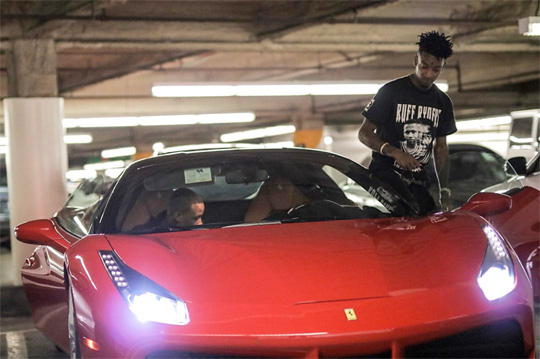 Drake Gifts 21 Savage A Ferrari For His 24th Birthday