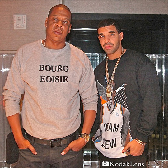 Drake & Jay-Z Working In The Studio Together In Manhattan