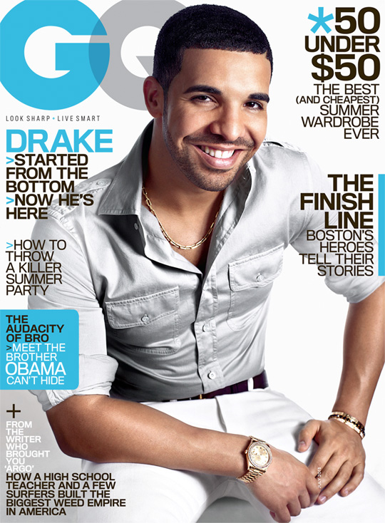 Drake Covers July Issue Of GQ Magazine
