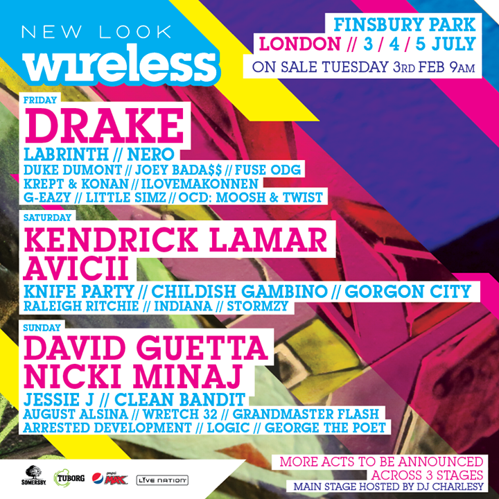 Drake & Nicki Minaj Announced As Headliners For The 2015 Wireless Festival