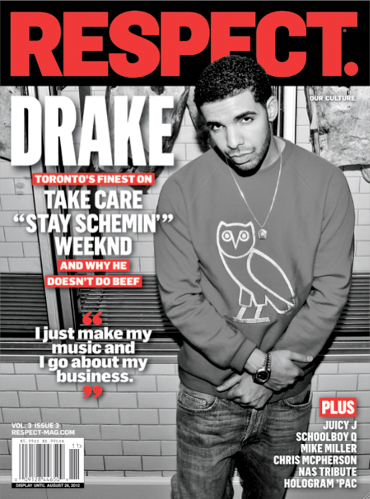 Drake Covers Issue 3 Of RESPECT Magazine