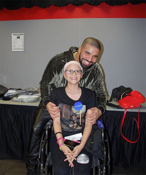 Drake & Rihanna Surprise A Young Fan With Cancer Backstage In Miami