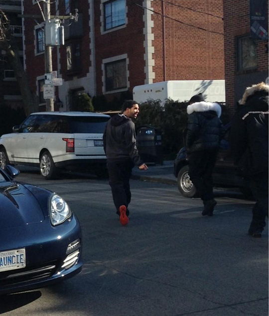 Drake Shoots A Music Video For Started From The Bottom In Toronto