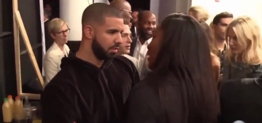 Drake Shows His Support For Serena Williams At Her Fashion Show In New York