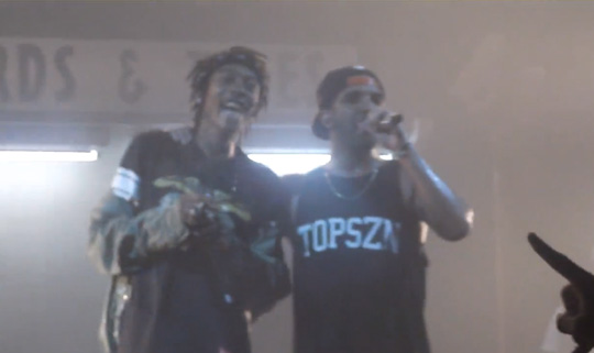 Drake Smokes On Stage With Wiz Khalifa At Houston Appreciation Weekend