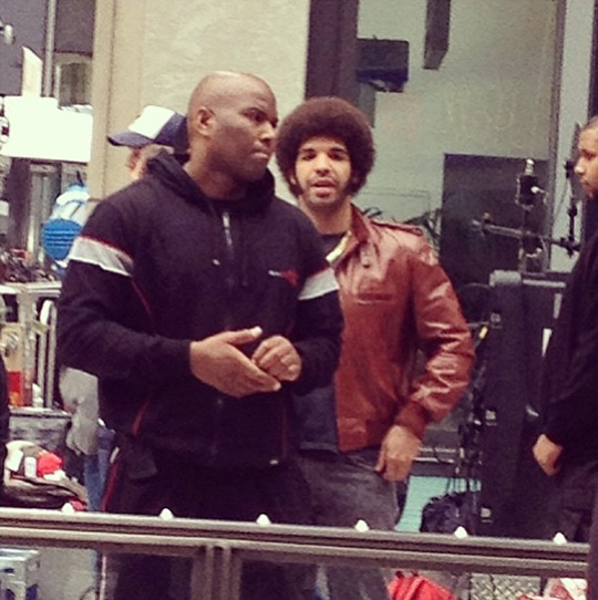 Drake Spotted On Set Shooting Scenes For Anchorman 2 In Manhattan