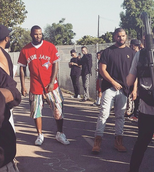 Drake & The Game Shoot A Music Video For 100 In Compton
