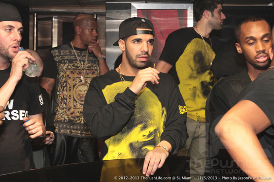 Drake Attends Tour After-Party At SL Miami In Florida