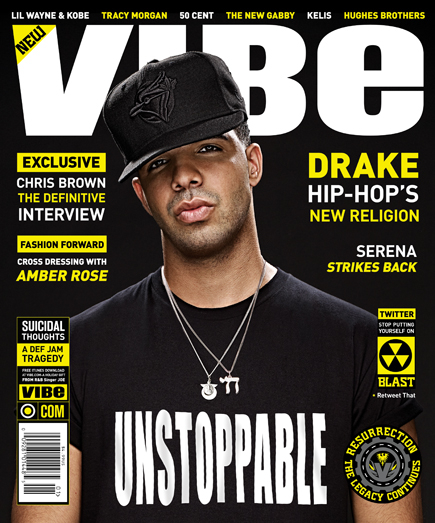 Here is Drake on the front cover of VIBE Magazine ! You can watch the
