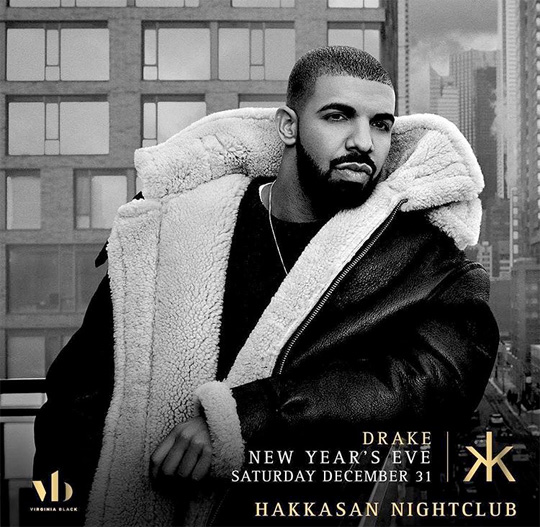 Drake Will Bring In The New Year At Hakkasan In Las Vegas