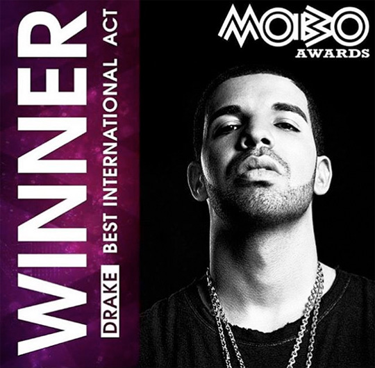 Drake Wins Best International Act At The 2016 MOBO Awards